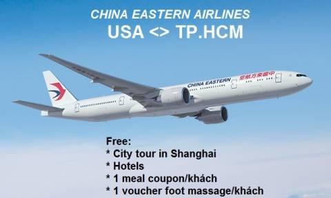 Vé Máy Bay China Eastern Airlines Đi Mỹ Hỗ Trợ Khách Sạn Miễn Phí