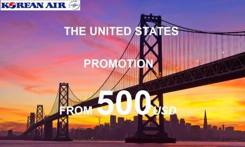 Korean Air Khuyến Mãi Toàn Chặng Đi Mỹ Giá Cực Sốc