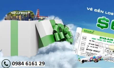 Eva Air khuyến mãi giá vé khứ hồi đi Mỹ từ 677 USD