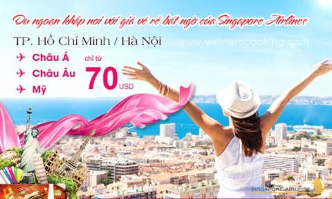 Singapore Airlines khuyến mãi đi Mỹ chỉ 470 USD