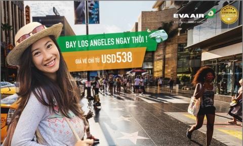 Vé máy bay đi Los Angeles 2019 EVA Air
