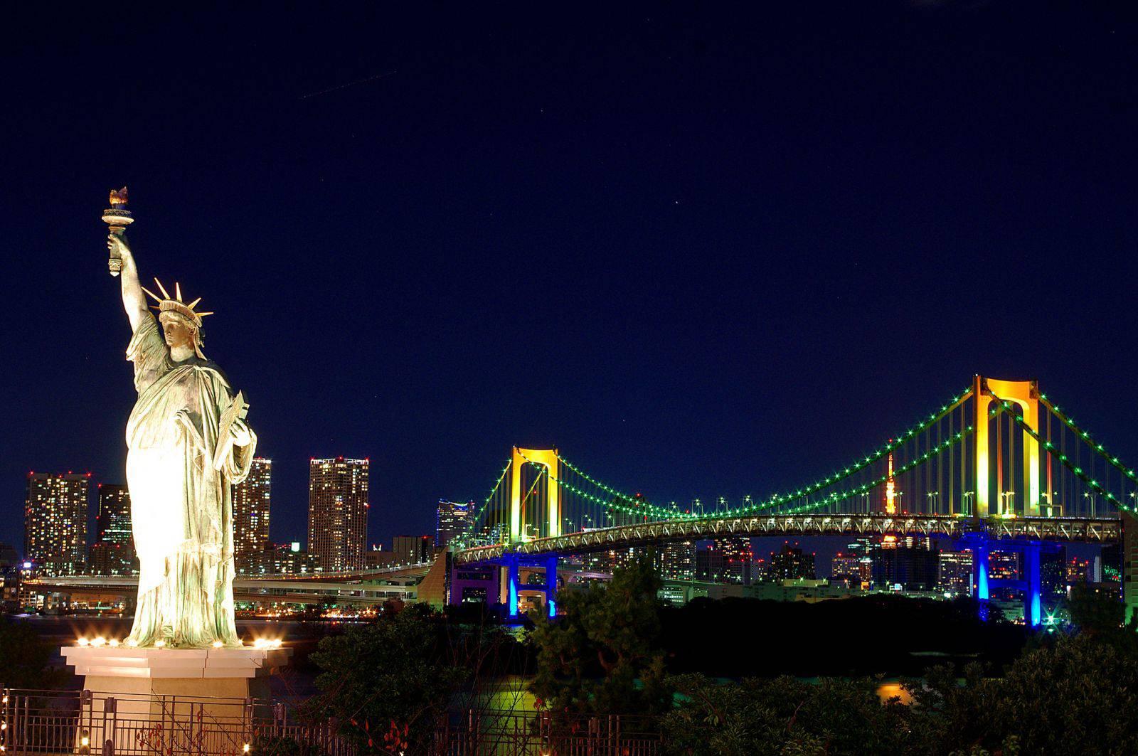 Cảnh quan thành phố New York về đêm