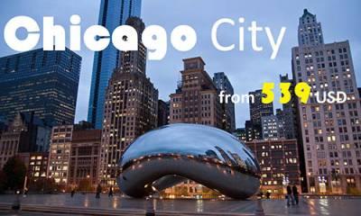 Vé máy bay đi Chicago giá rẻ chỉ từ 539USD