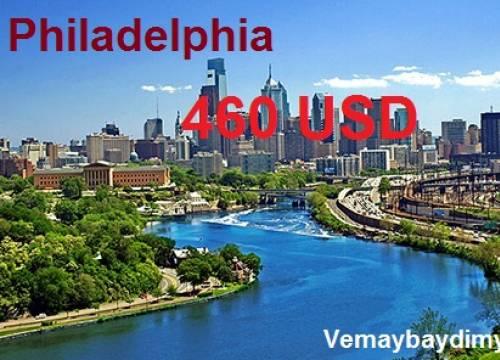 Vé máy bay đi Philadelphia giá rẻ chỉ với giá 460 USD