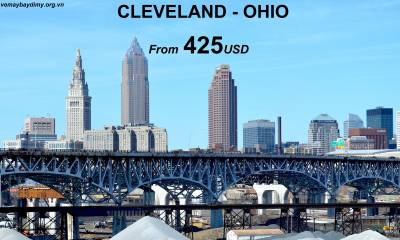 Vé Máy Bay Đi Cleveland Giá Rẻ chỉ từ 425 USD
