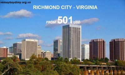 Vé Máy Bay Đi Richmond Giá Rẻ từ 501 USD