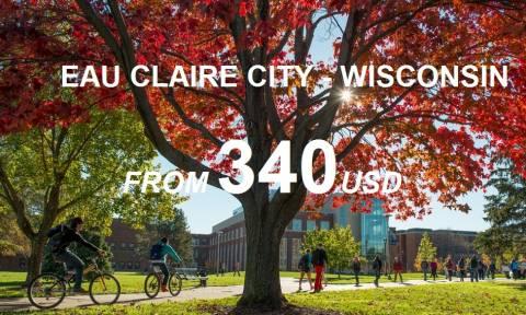 Gợi Ý Hãng Hàng Không Giá Rẻ Đi Eau Claire Wisconsin
