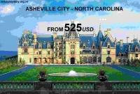 Vé Máy Bay Đi Asheville Bắc Carolina Giá Rẻ