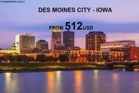Vé Máy Bay Đi Des Moines Iowa