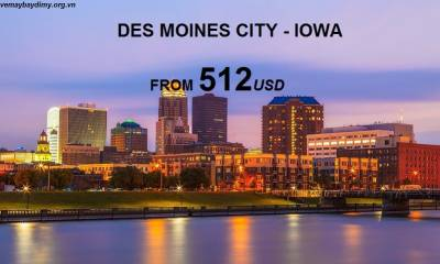 Vé Máy Bay Đi Des Moines - Iowa