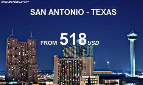 Đến San Antonio Texas Với Vé Máy Bay Chỉ Từ 518 USD