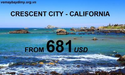 Vé Máy Bay Đi Crescent City California Giá Rẻ