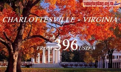 Vé Máy Bay Đi Charlottesville Virginia Giá Rẻ